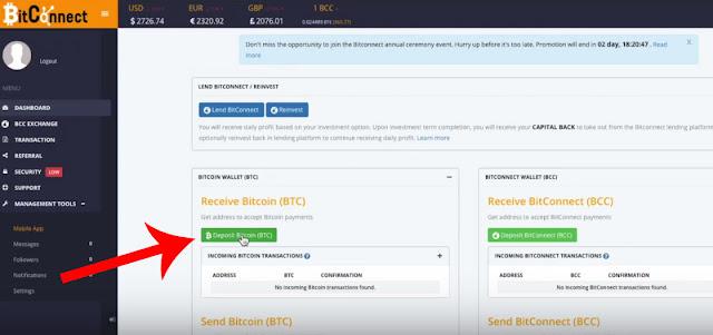 send bitcoin to bitconnect