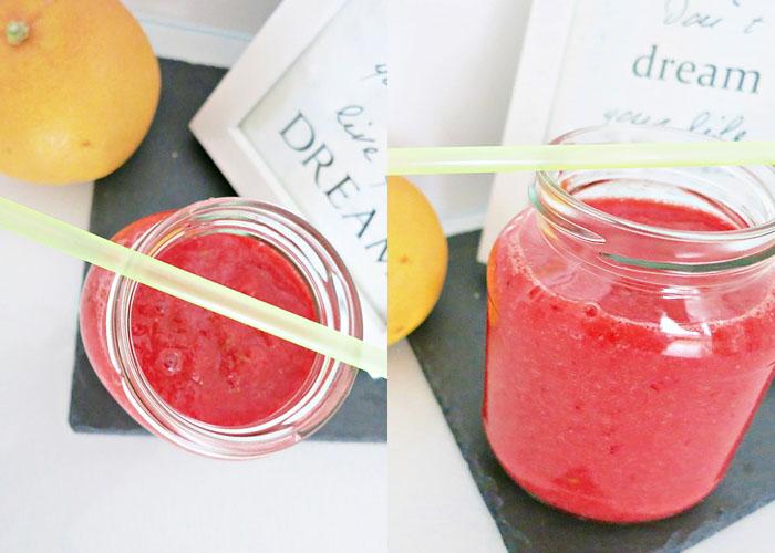 Red Smoothie [Erdbeere - Grapefruit - grüner Apfel]