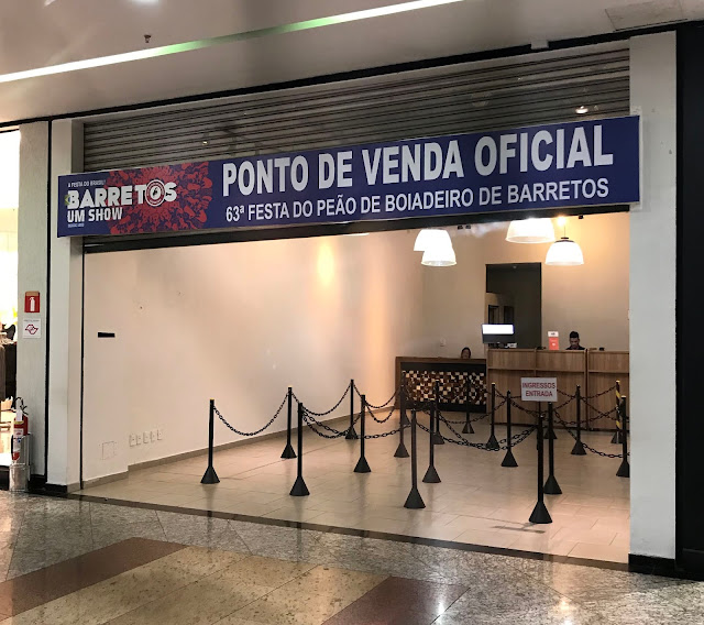 Venda de ingressos para 63ª Festa do Peão de Boiadeiro de Barretos acontece no North Shopping Barretos
