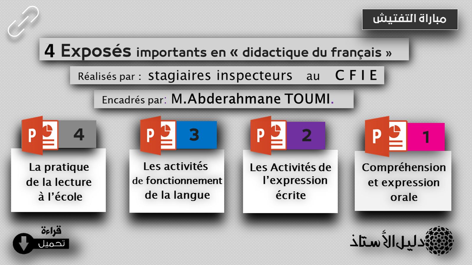lessentiel en didactique du français toumi