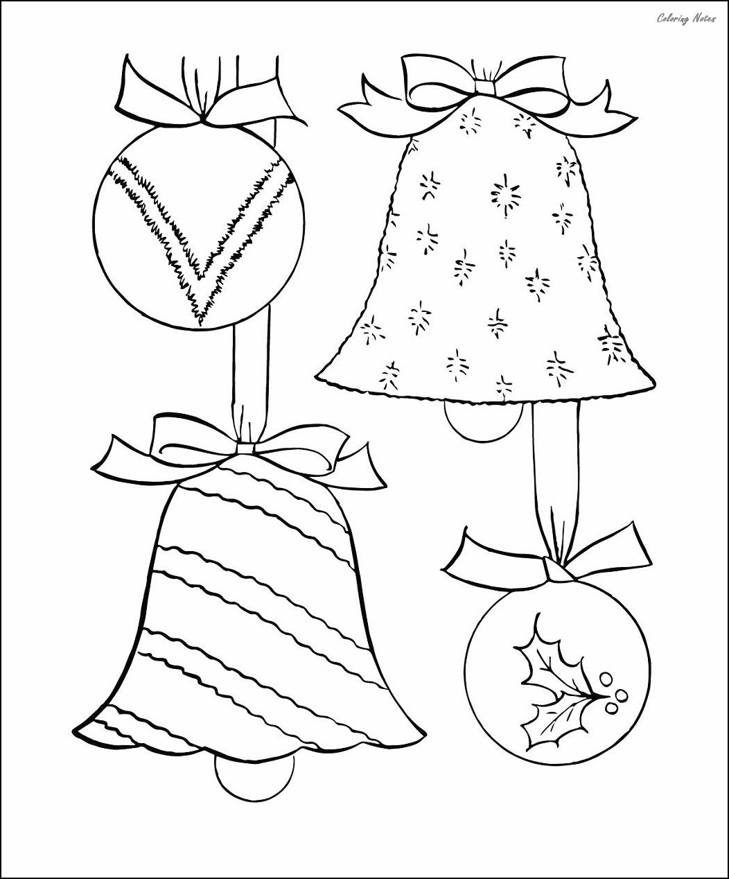 30 Best Christmas Ornaments Coloring Pages Free Printable ...
