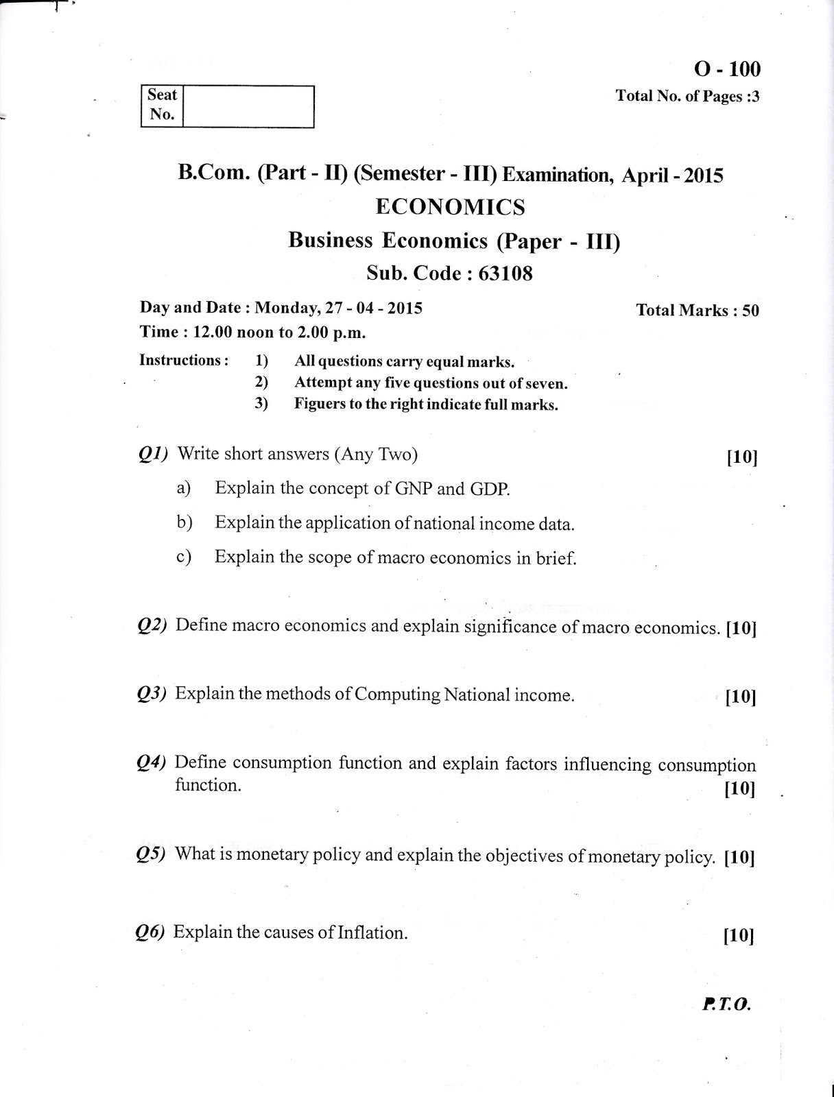 Economics Chapter 1 Questions And Answers