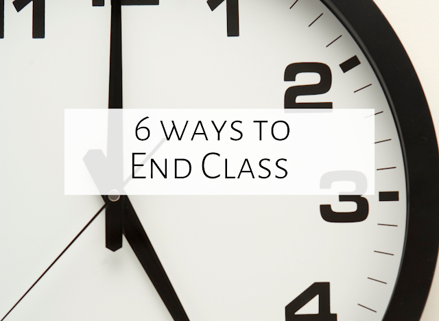 Six ways to end music class