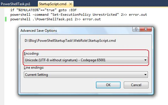 Executing PowerShell script with Windows Azure Startup Task | Dot