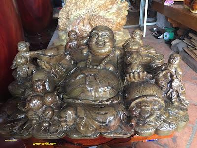 tượng phật di lặc gỗ mỹ nghệ
