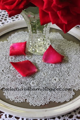 Eclectic Red Barn: Tatted doily preserved