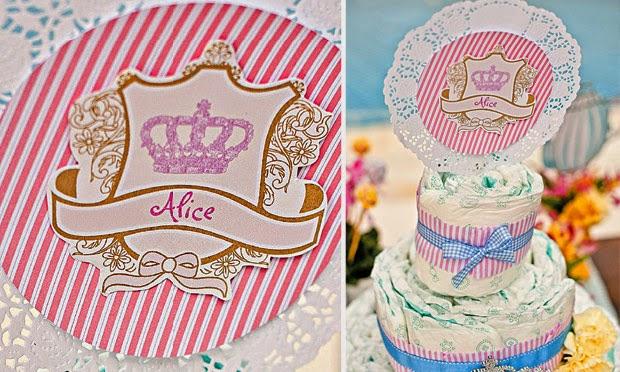 topo de bolo personalizado realeza