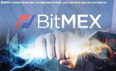 BitMEX снова включает котировки Kraken для расчета цен на контракты