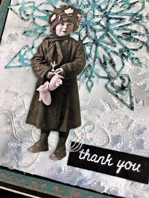 Sara Emily Barker Wintry Mixed Media Cards https://sarascloset1.blogspot.com/2019/01/wintry-mixed-media-cards-for-frilly-and.html #timholtz #sizzixalterations #iceflake #flurry1 3
