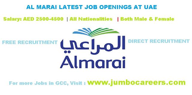 Al Marai Jobs Salary in UAE | Job Vacancies in Al Marai UAE Latest, AL Marai Jobs in Dubai 2018 Latest, Al Marai Jobs Salary