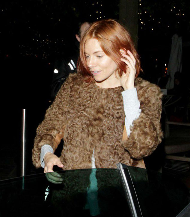 Frustration hairstyle? Sienna Miller has now copper hair!