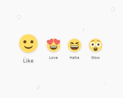 reacciones de facebook en blogger