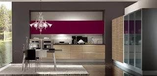 cocina moderna color morado