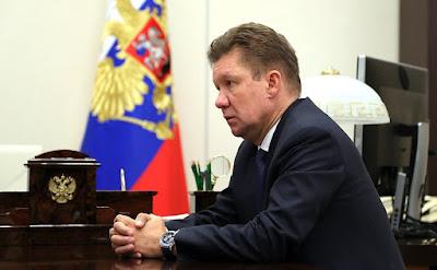 Gazprom CEO, Alexei Miller.