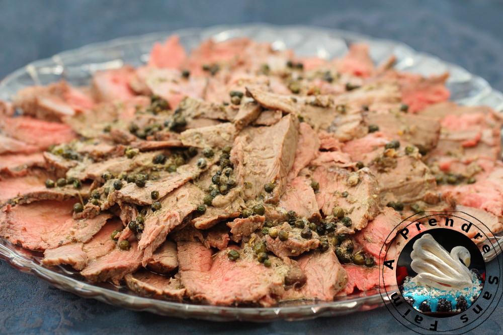 Rôti de bœuf au poivre vert