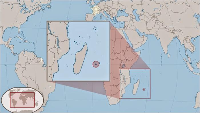 L'Ile de la Réunion par rapport à la France