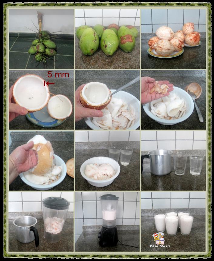 Manjar de coco quase verde 3