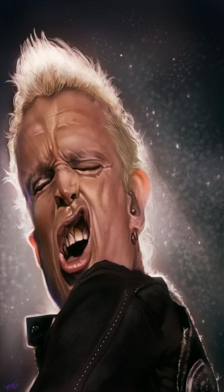 Billy Idol por Rafael Rivera DARAF