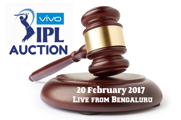 IPL Auction 2017 live from Bengaluru