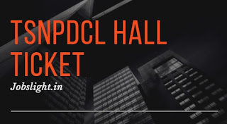 TSNPDCL Hall Ticket