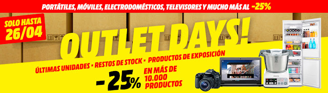Mejores ofertas Outlet Days de Media Markt Abril 2017