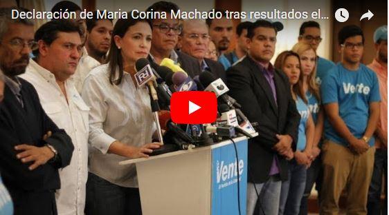 Maria Corina Machado es lo único que nos queda
