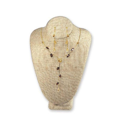 100% Organic Hemp Linen Covered Necklace Display Bust from NileCorp.com