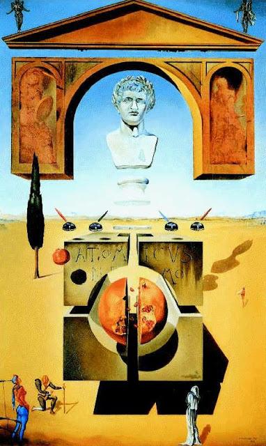Foto a la pintura La separación del átomo de Salvador Dalí