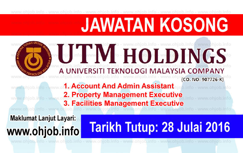 Jawatan Kerja Kosong UTM Holdings Sdn Bhd logo www.ohjob.info julai 2016