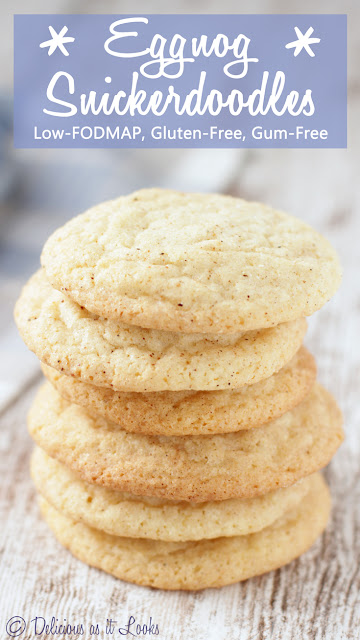 Eggnog Snickerdoodles {Low-FODMAP, Gluten-Free, Gum-Free}  /  Delicious as it Looks