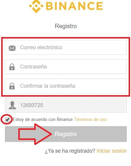 registro en binance