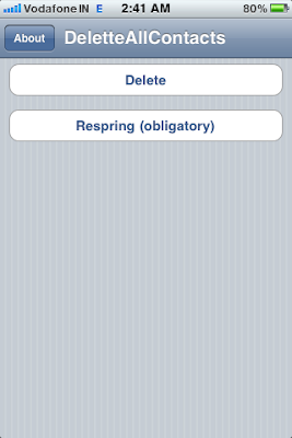 delete all contacts iphone