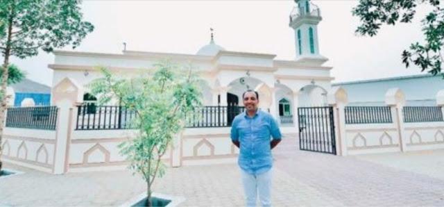 Pria Katolik Bangun Masjid Maria Ibu Yesus dan Buka Puasa Gratis Tiap Hari