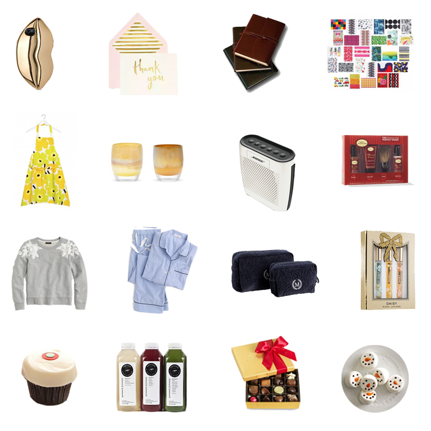 gifts for anyone, gifts for guys or girls, hostess host gift ideas, perfect gift for anyone, ultimate christmas holiday gift guide, 2015 gift guide, fashion blogger, food blog, san francisco bay area, california, healthy gifts, glassybaby review, sprinkles bakery, bose bluetooth speaker, marimekko, stella mccartney,