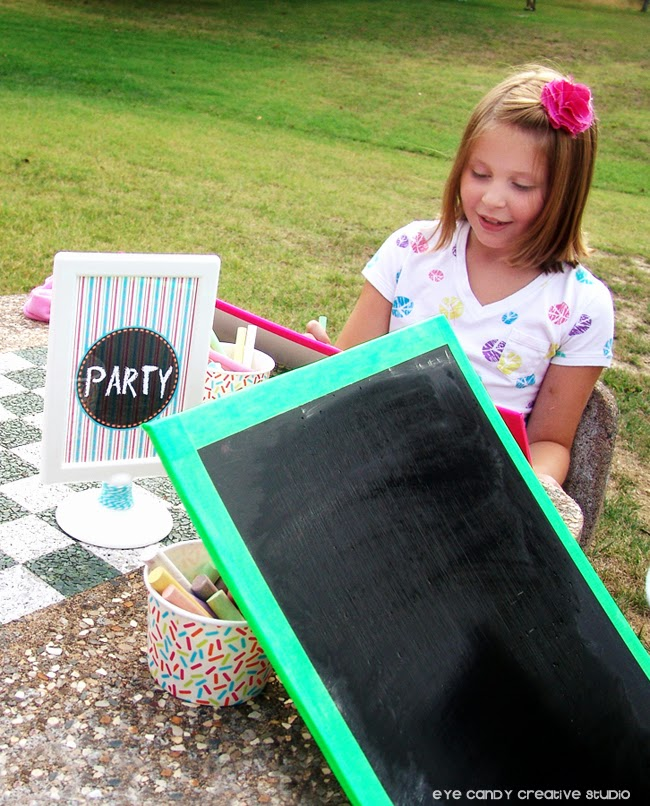 art party picnic chalkboards, how to make a homemade chalkboard
