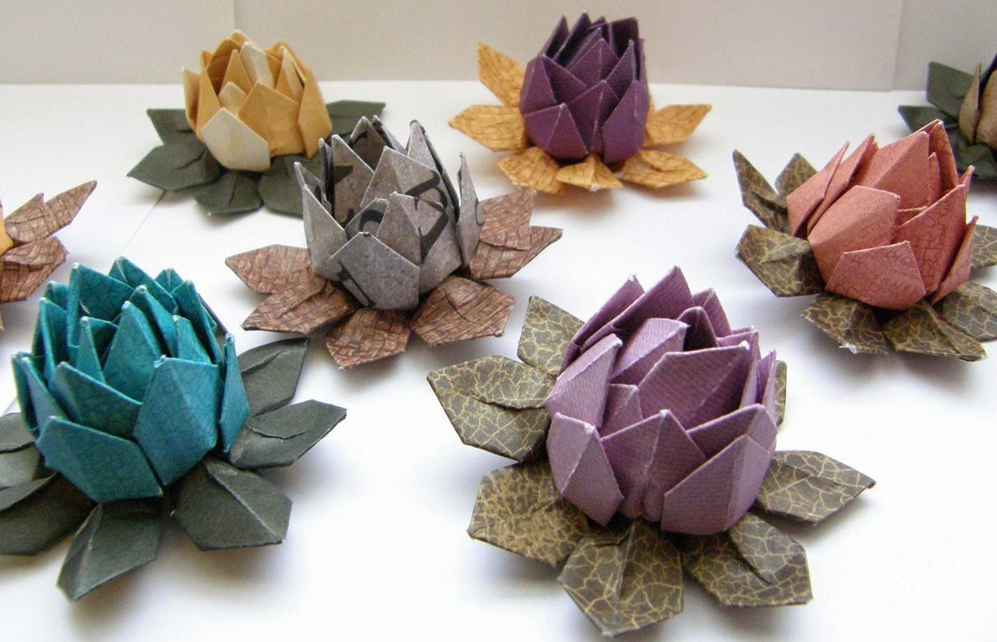 Origami Water Lily | Origami lily, Origami water lily, Lily pads | 920x1427