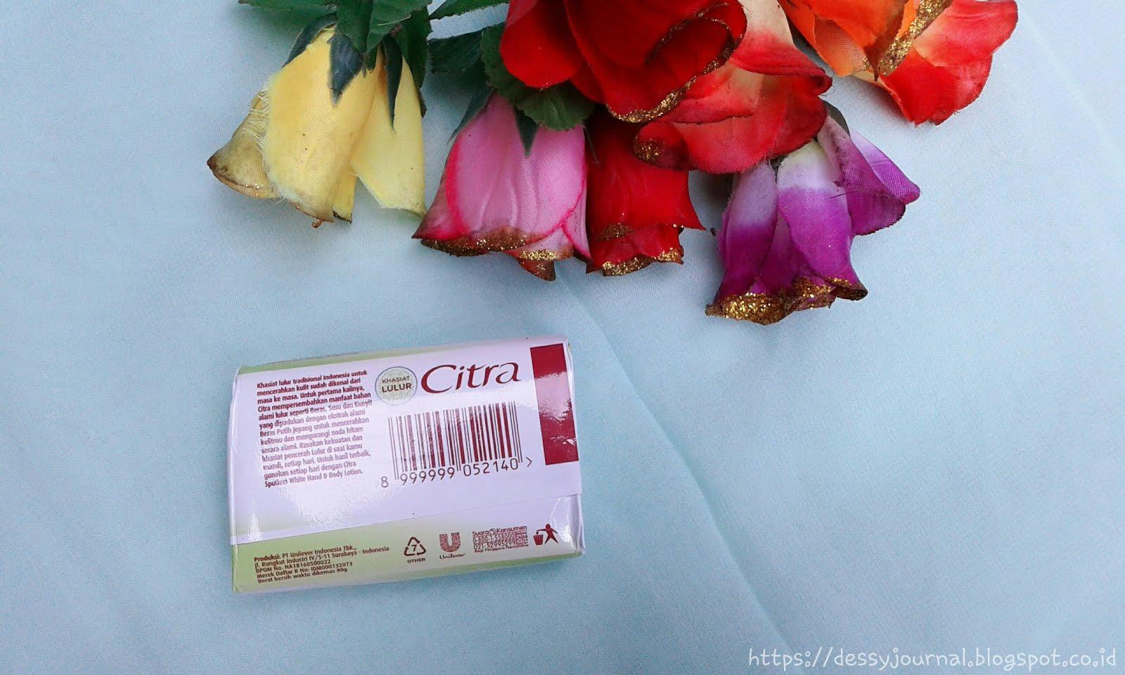 Dessy Journal Review Citra Sabun Mandi Lulur Spotless White Paket Handbody Lotion Dan Untuk Pertama Kalinya Mempersembahkan Manfaat Bahan Alami Seperti Beras Susu Kunyit Yang Dipadukan Dengan Ekstrak Putih