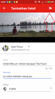 Cara Upload Video Ke YouTube Dengan Aplikasi Youtube Di Smartphone Android