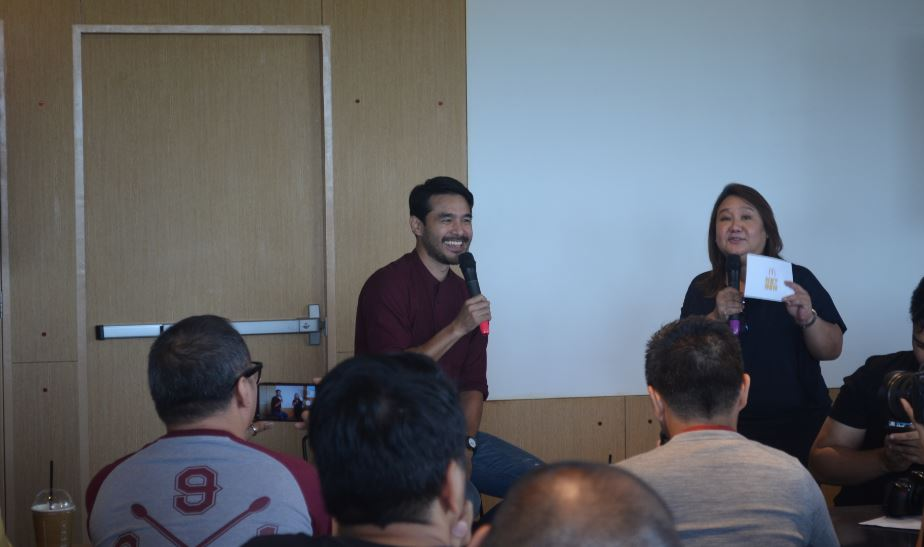 McDonald's Margot Torres with journalist Atom Araullo
