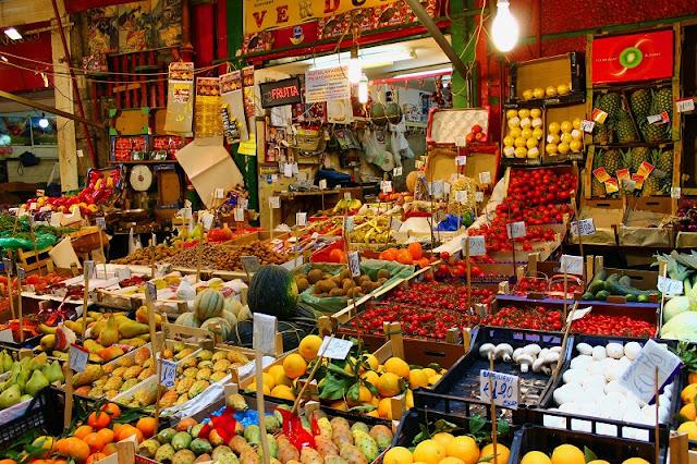 Mercado Vucciria em Palermo na Itália