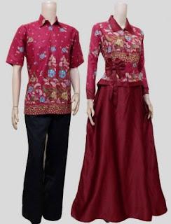 model baju batik muslim kombinasi