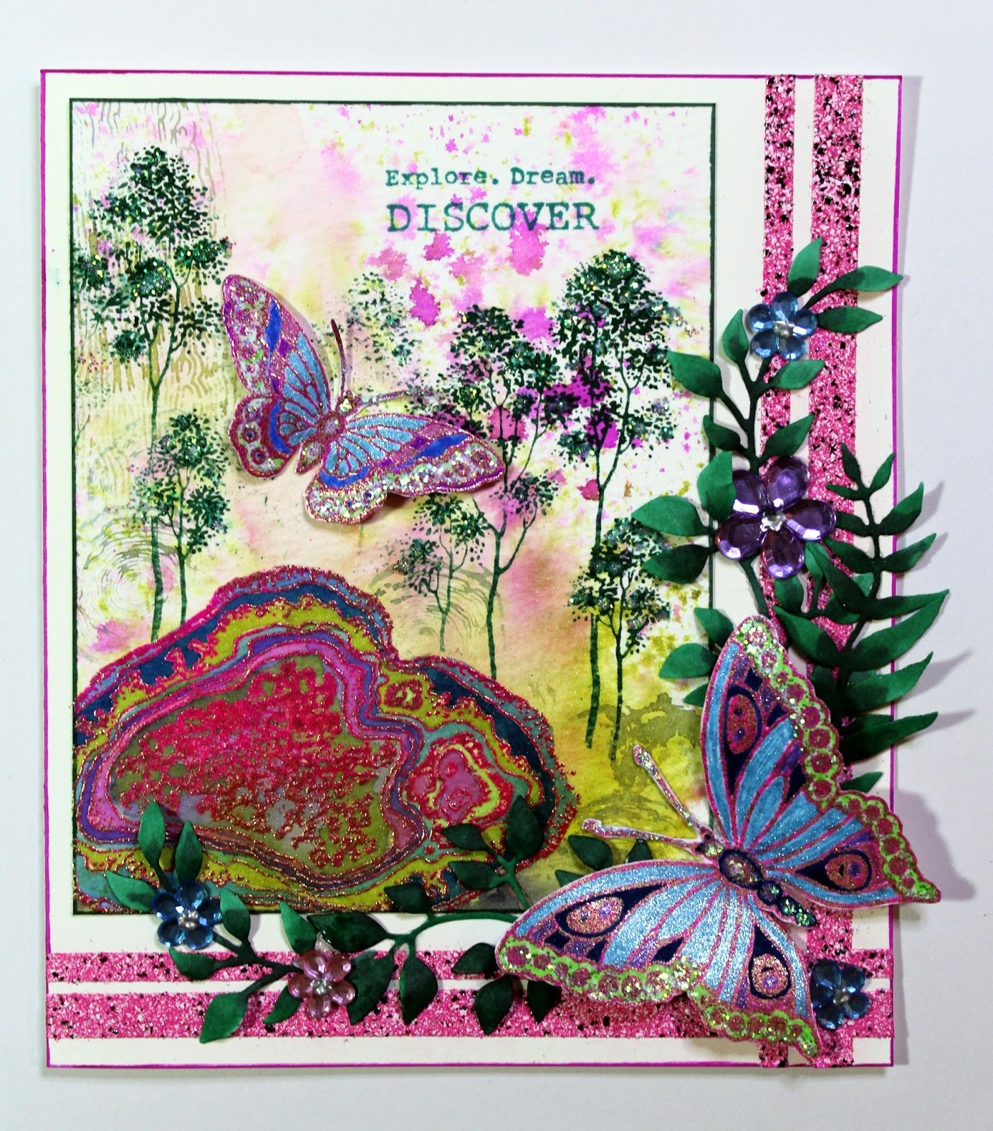 chocolate baroque design team butterfly scene cards by anne