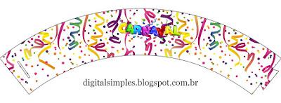 Wrappers para Cupcake de Peppa Pig en Carnaval.