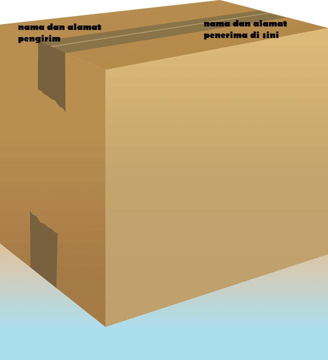 cara penulisan alamat paket
