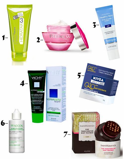 produtos de tratamento noturno, porque usar, dicas