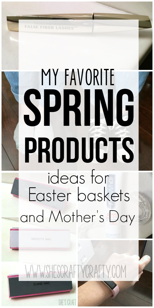 mascara, fitness tracker, Easter basket ideas, mothers day ideas