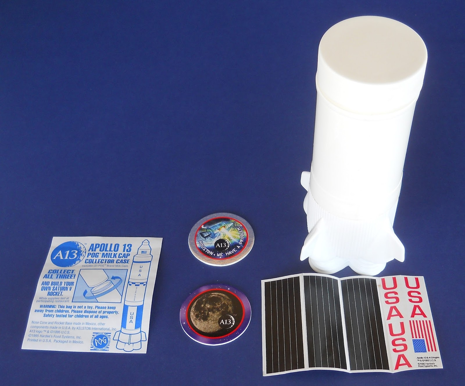 Toys and Stuff: Hardee's Apollo 13 Pog Collector Case 1995 - Stage 1