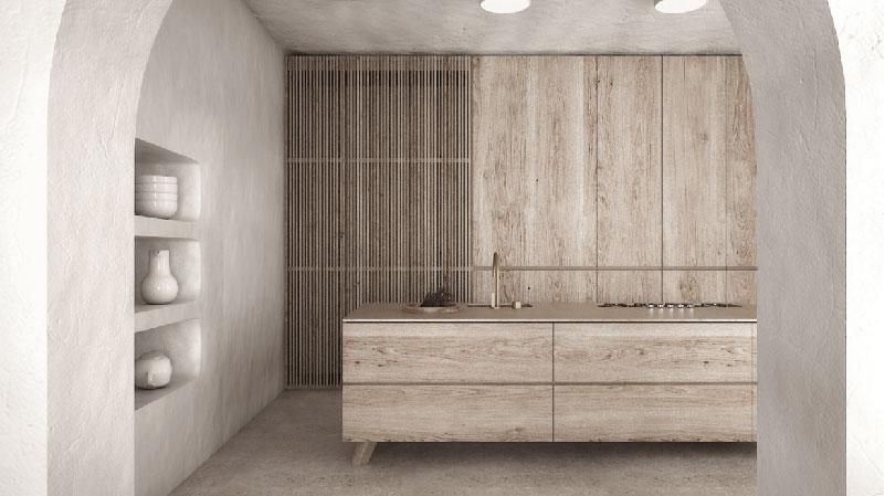 cucina in legno stile scandinavo