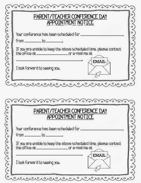 parent teacher meeting report template - teaching with terhune ready for parent teacher conferences