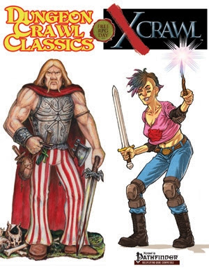 DCC Trove of Treasures: DCC RPG/Xcrawl Free RPG Day 2013